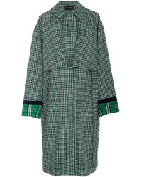 Cedric Charlier - Oversized Collared Plaid Twill Coat - Lyst