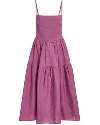 Ciao Lucia Gioia Open-back Midi Dress - Purple