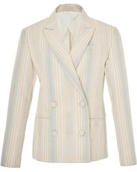 Marina Moscone - Double Breasted Blazer - Lyst