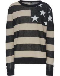 Balmain Flag Detail Sweater - Black
