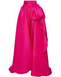Marchesa Satin Bow Overskirt - Pink