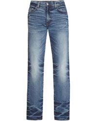 Amiri Stack Mid-rise Skinny Jeans - Blue