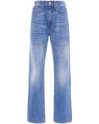 SLVRLAKE Denim London Stretch High-rise Straight-leg Jeans - Blue