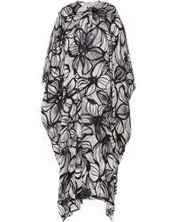 Marie France Van Damme Floral-print Silk-satin Kaftan - Multicolour