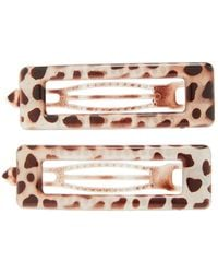 8 Other Reasons Taye Set-of-two Resin Hair Clips - Brown