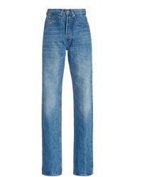 Paco Rabanne Rigid High-rise Straight-leg Jeans - Blue