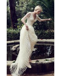 Costarellos Bridal - Pearl Embroided Twig Tulle Gown - Lyst