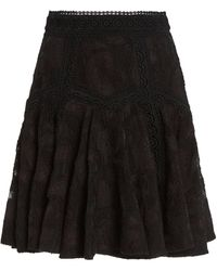 Acler Godson Cotton-blend Mini Skirt - Black