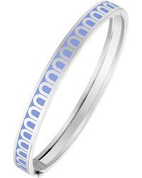 Davidor L'arc 18k White Gold And Lacquered Ceramic Bangle - Blue