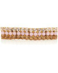 Lelet 14k Gold-plated Crystal Barrette - Pink