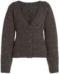 Altuzarra Beverly Wool-cashmere Cardigan - Gray