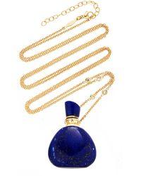 Jacquie Aiche - Lapis Triangle Potion Bottle Necklace - Lyst
