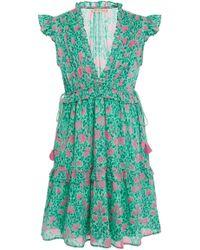 Banjanan - Chandra Tiered Floral Cotton-voile Mini Dress - Lyst