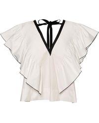 Lug Von Siga Cora Ruffled Cotton Top - White