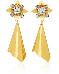 Nicole Romano - Walker Gold-plated Brass Crystal Earrings - Lyst