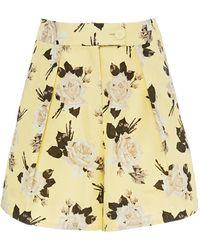 Erdem Howard Floral Shorts - Yellow