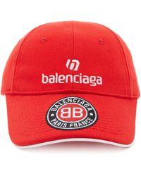Balenciaga Appliquéd Cotton-twill Baseball Cap - Red