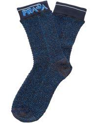 Prada Logo Lurex Socks - Blue