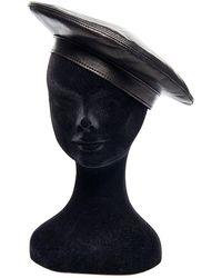Philosophy Di Lorenzo Serafini Leather Beret Hat - Black