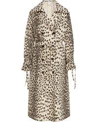 Sea Leo Cheetah-print Cotton Trench Coat - Multicolour
