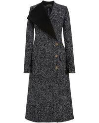 Proenza Schouler Herringbone Bouclé Wool-blend Coat - Black