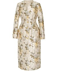 Brock Collection Floral-brocade Coat - Multicolour