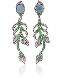 Wendy Yue - Tsavorite And Opal Versatile Earrings - Lyst