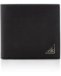 Prada Saffiano Leather 6cc Wallet - Black
