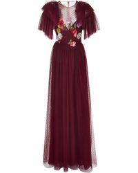 Monique Lhuillier - Sequin-embellished Point D'espirit Gown - Lyst