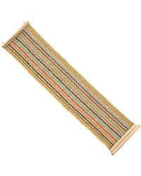 Carolina Bucci - Rainbow Striped Woven Bracelet - Lyst