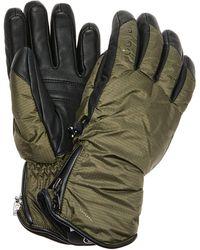 Bogner Baca Leather-trimmed Ripstop Gloves - Green