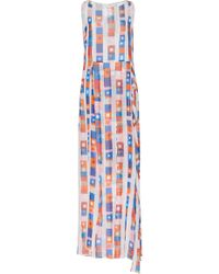 Akris - Silk Crepe Superstripe Gown - Lyst