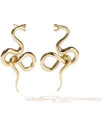 Meadowlark Large Medusa Earrings - Metallic