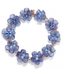 Irene Neuwirth One Of A Kind Tanzanite And Sapphire Tropical Flower Bracelet - Purple