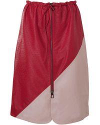 Dodo Bar Or Jonna Leather Skirt - Red