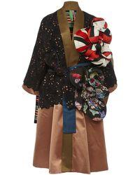 Rianna + Nina Exclusive Floral-appliquéd Lace And Silk-satin Coat - Pink