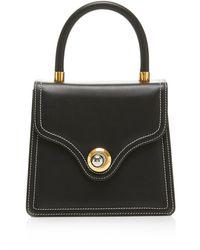 Ratio et Motus Lady Leather Top Handle Bag - Black