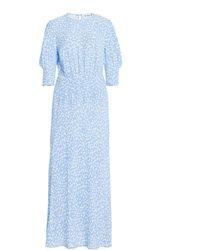RIXO London Lucile Crepe Midi Dress - Blue
