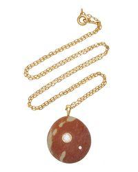 CVC Stones Rosalina 18k Gold, Diamond And Stone Necklace - Red