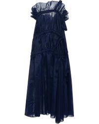 Ellery Cloudy Peak Voluminous Drawstring Dress - Blue