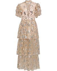 Macgraw Flutter Dress - Metallic