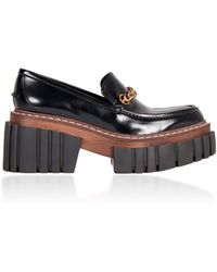 Stella McCartney Platform Patent Leather Loafers - Black