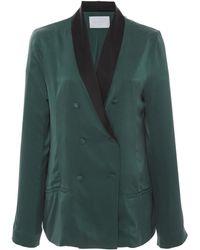 Asceno Silk Suave Blazer - Green