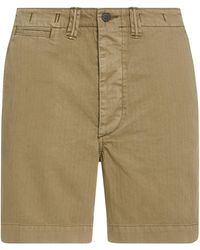 RRL 1943 Field Cotton Chino Shorts - Green