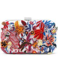 Maticevski Carnival Embellished Silk-satin Clutch - Multicolor