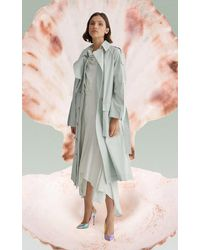 Acler Alston Long Lined Trench - Green