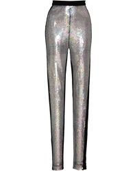 David Koma High-waisted Sequined Skinny Trousers - Black