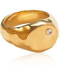Pamela Love Alexander 14k Gold-plated Signet Ring - Metallic