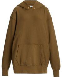 Les Tien Classic Fleece Oversized Cotton Sweatshirt - Brown
