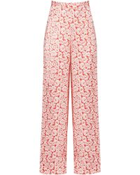 The Vampire's Wife The Penitent Floral Silk Wide-leg Trousers - Multicolour